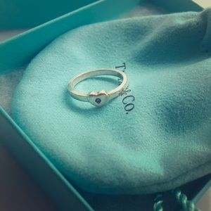 Tiffany Pink Gem heart ring